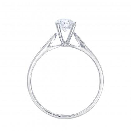 White Gold Ring Casing, 750/18K Gold (0.50CT) 00876-CR