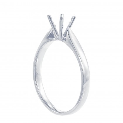 White Gold Ring Casing, 750/18K Gold (0.30CT) 00876-CR