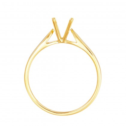 Yellow Gold Ring Casing, 750/18K Gold (0.30CT) 00876-CR