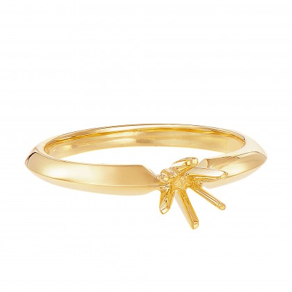 Yellow Gold Ring Casing, 750/18K Gold (0.3CT) A0275