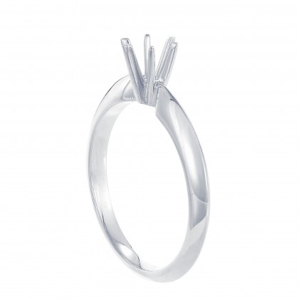White Gold Ring Casing, 750/18K Gold (0.70CT) A0275
