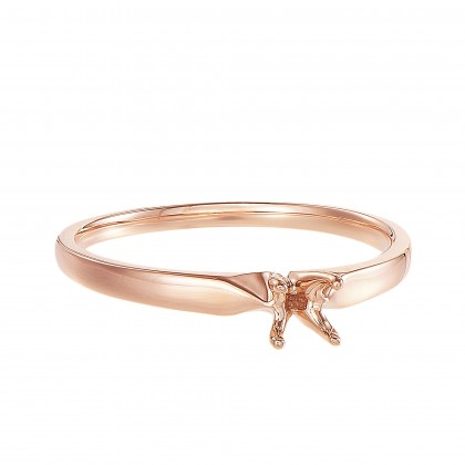 Rose Gold Ring Casing, 750/18K Gold (0.30CT) A0394