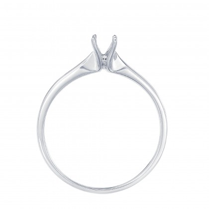 White Gold Ring Casing, 750/18K Gold (0.50CT) A0394