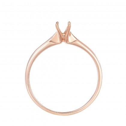 Rose Gold Ring Casing, 750/18K Gold (0.50CT) A0394