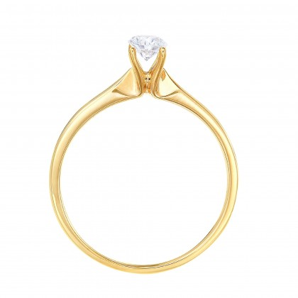 Yellow Gold Ring Casing, 750/18K Gold (0.50CT) A0394