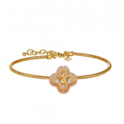 Oro Italia 916 Milano White, Yellow and Rose Gold Bangle (8.54G) GB86920820-TI