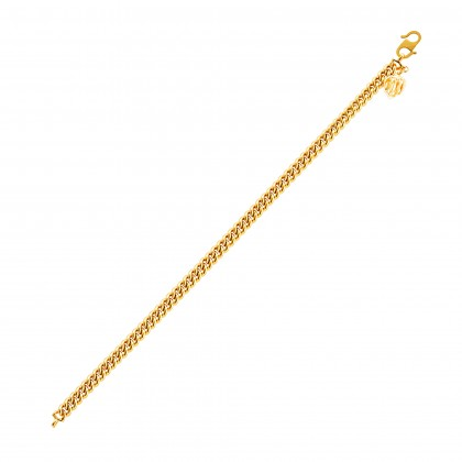 Sauh Lama Kosong with Bold Heart Shape Gold Bracelet, 916 Gold (10.71G) GW0111020