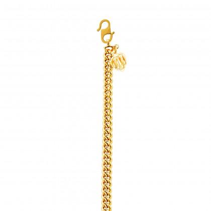 Sauh Lama Kosong with Bold Heart Shape Gold Bracelet, 916 Gold (8.73G) GW0111020