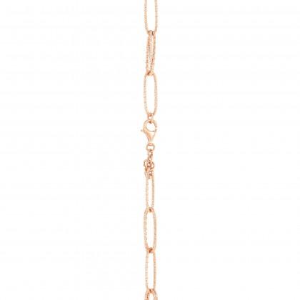 Oro Italia 916 Graffetta Rose Gold Necklace (44.36G) GC25370221(R)