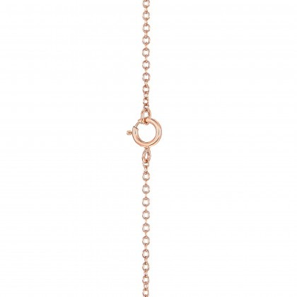 Round Diamond Necklace in 375/9K Rose Gold 558620821