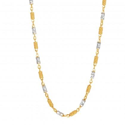 Oro Italia 916 Yellow and White Gold Necklace (9.40G) GC2430-BI