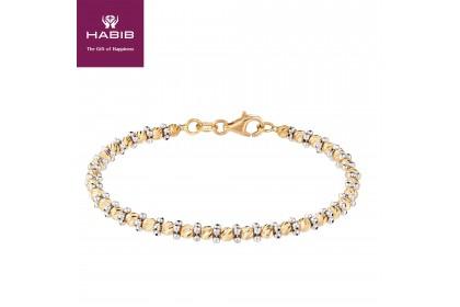 Oro Italia 916 Piccolo White and Yellow Gold Bangle (8.40G) GB8003-BI