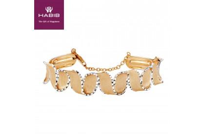 Oro Italia 916 White and Yellow Gold Bangle (23.21G) GB8417
